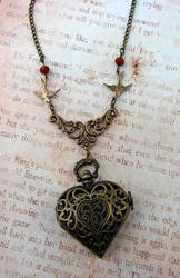 Carry My Heart Watch Necklace by FusedElegance