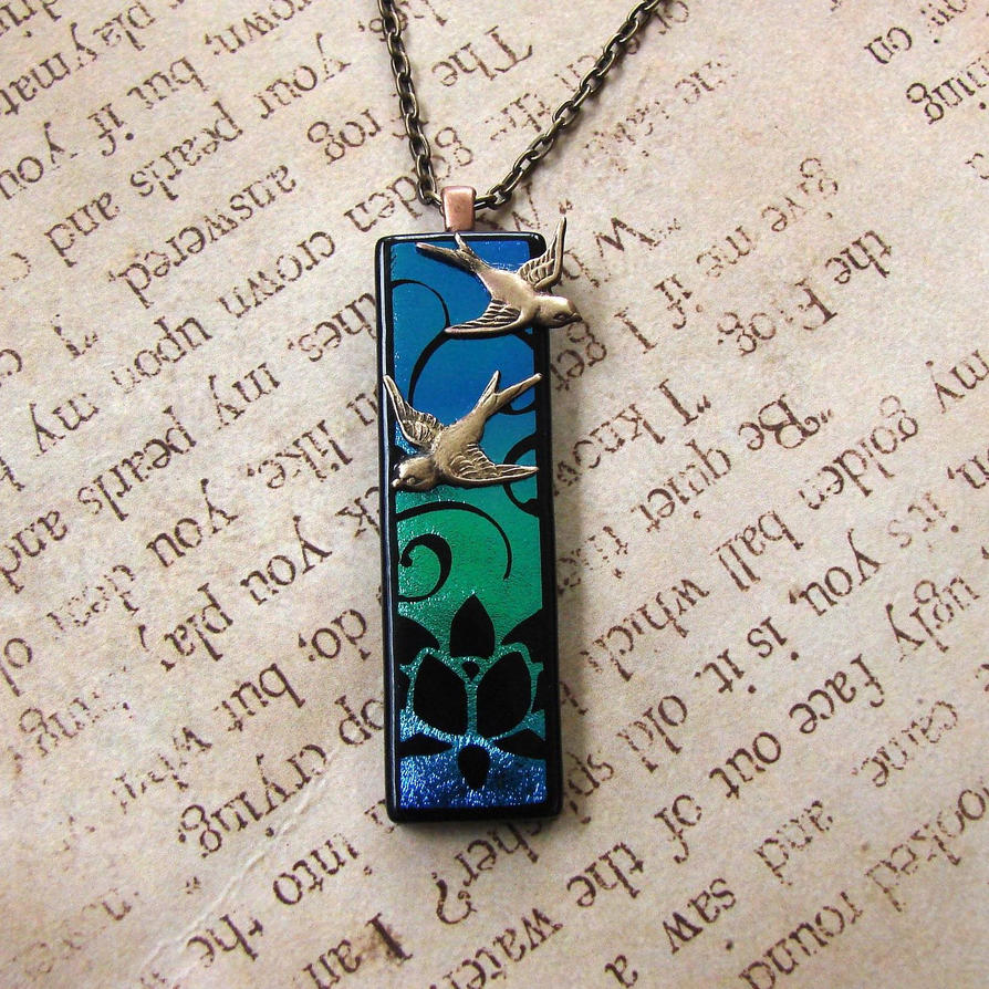 creations tree designs etched fused in dichroic made pendant laser pendants custom by glass