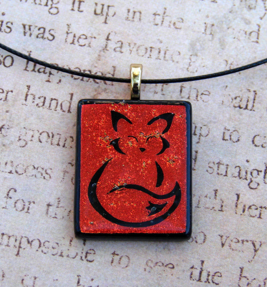 Calligraphy Fox Fused Glass By Fusedelegance On Deviantart