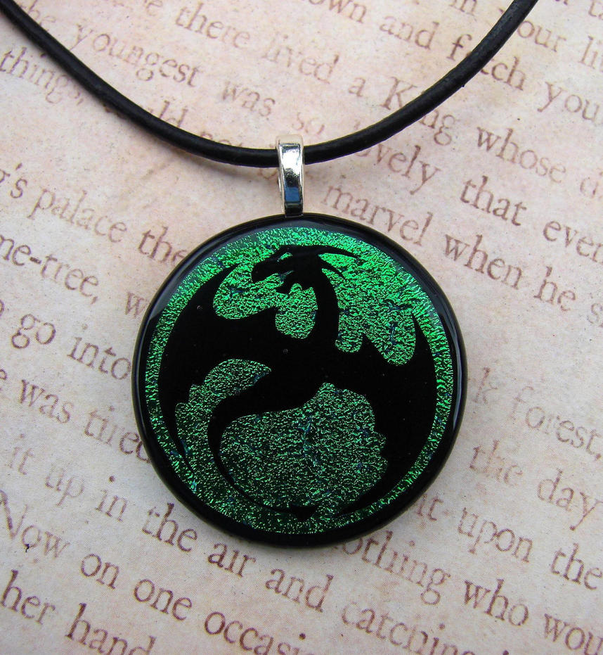 Glass Emerald Dragon Flight by FusedElegance