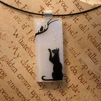 Out of Reach Glass Pendant by FusedElegance