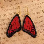Glass Monarch Large Earrings