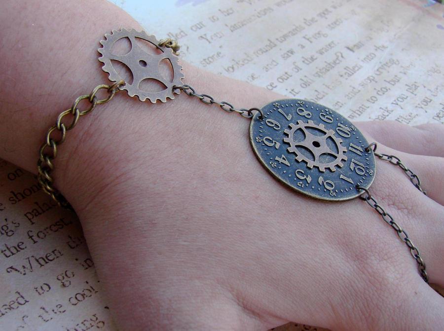 Steampunk Slave Bracelet by FusedElegance