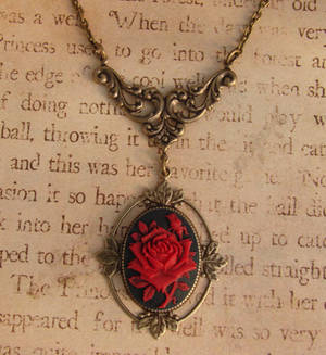 Gothic Victorian Rose Cameo