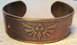 Zelda Triforce Brass Bracelet by FusedElegance