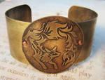 Of Flame Fox Fire Brass Cuff Bracelet