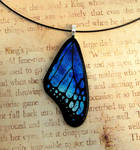 Blue Mix Fused Glass Butterfly Wing