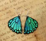 Glass Rear Butterfly Wing Earrings