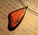 Warm Glow Fused Glass Monarch Wing