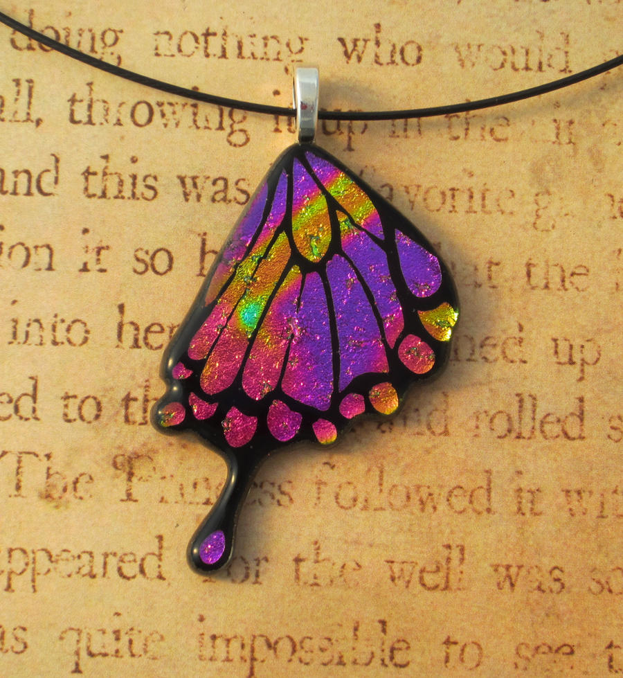 Swallowtail Fused glass Butterfly Wing by FusedElegance
