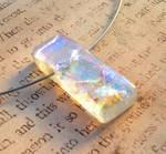 Fused Glass Ice Pendant Hypoallergenic