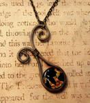 Flourish Wrap Fused Glass Necklace