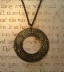 Fox Run Antiqued Brass Necklace