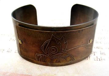 Zero Megaman X Brass Bracelet Cuff by FusedElegance