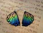 Rainbow Rear Butterfly Wings Fused Glass