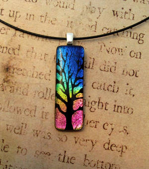 Tree of Life Fused Glass Rainbow by FusedElegance