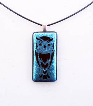 Owl Fused Glass Pendant
