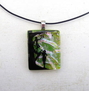 Forest Nymph Fused Glass Pendant