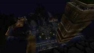 Hydrosis city at night