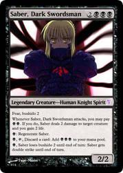 Saber, Dark Swordsman by Kaigo20