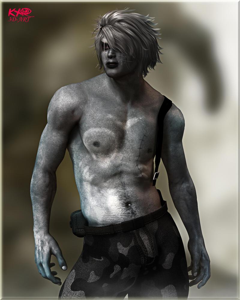Belkalan in camo pants by K-raven