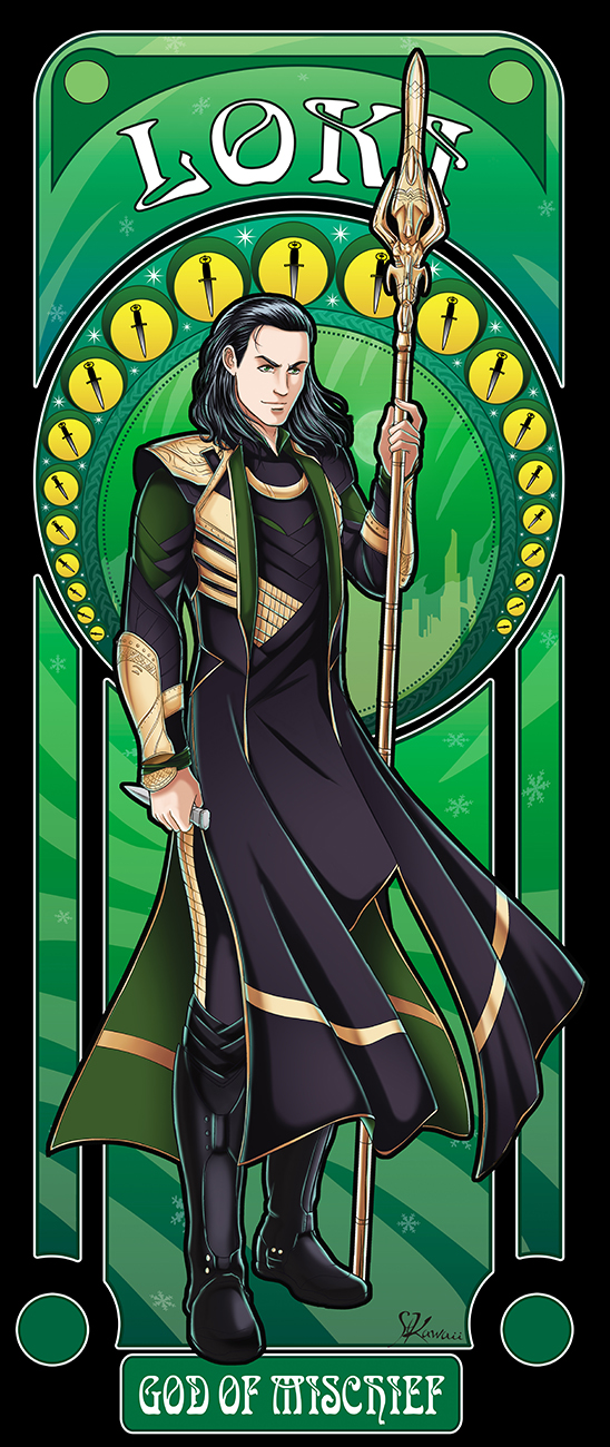 MCU!Loki-Art nouveau by StudioKawaii