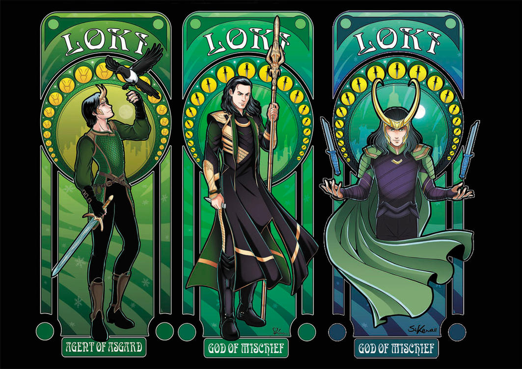 All Our Art Nouveau Lokis By Studiokawaii On Deviantart