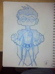 Robin - Damian Wayne by soggygrits