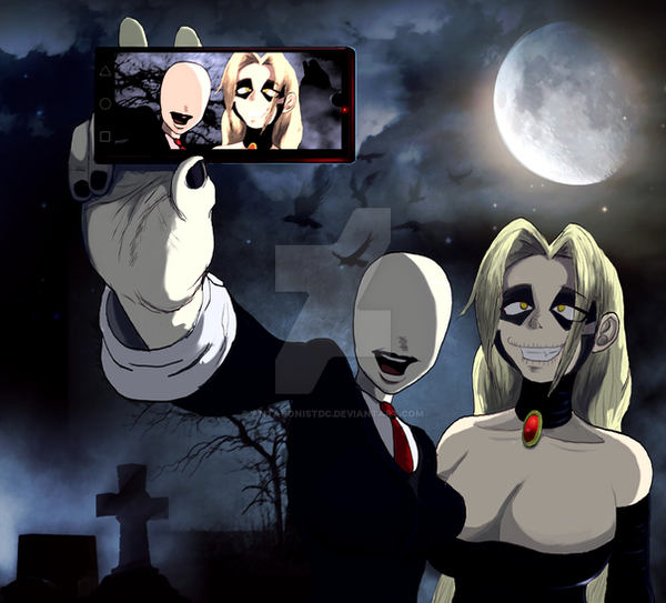 Pandora and Slender Woman Selfie (Requested) by AntagonistDC