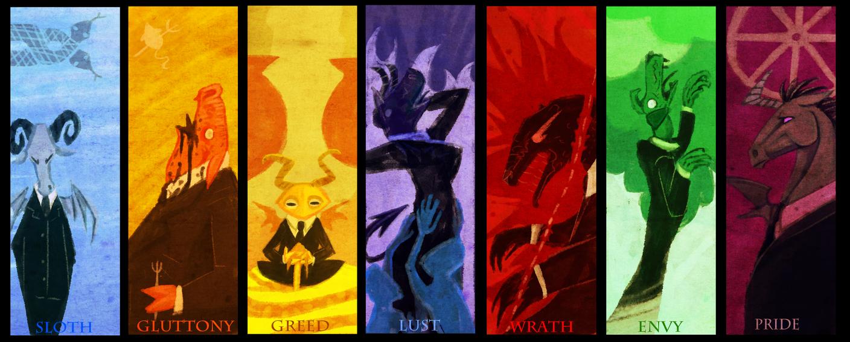 Seven sins by robinf on deviantart