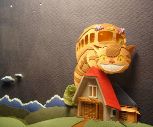 Catbus Detail by paperfetish