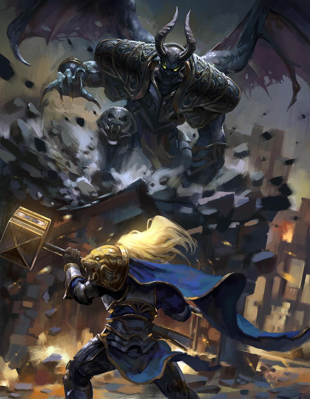 Prince Arthas VS Mal'ganis by zippo514 on DeviantArt