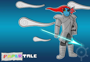 Undertale - Paper Undyne (Papertale) by MasterKtheUndying