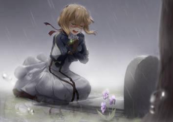 [Violet Evergarden Fanart] (Spoiler) Shattering by Sasoura