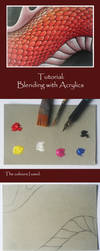 Tutorial: Blending with Acrylics by Saraais
