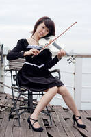girl with violin3 by xiaochi