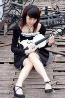 girl with violin5 by xiaochi