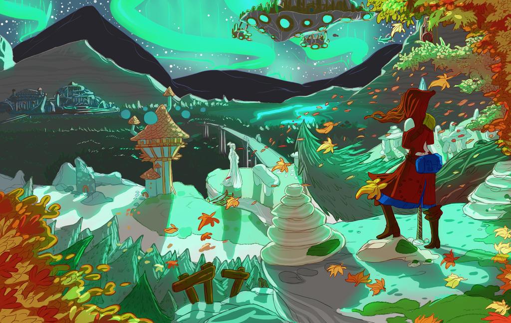 Aurora Borealis by Holydamned