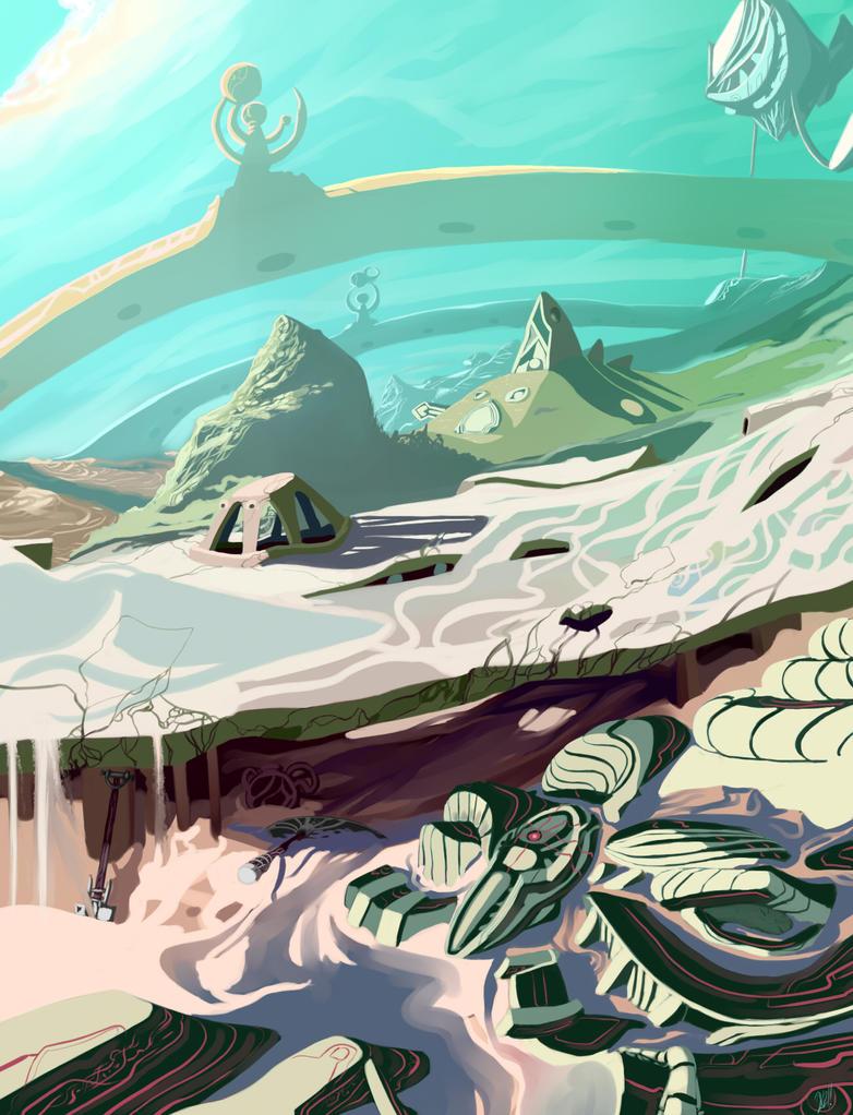 Alien_landscape1 by Holydamned