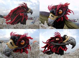 Phoenix costume head by kattything