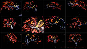 Phoenix head illuminated by kattything