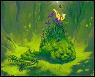 Mosscat in Springtime