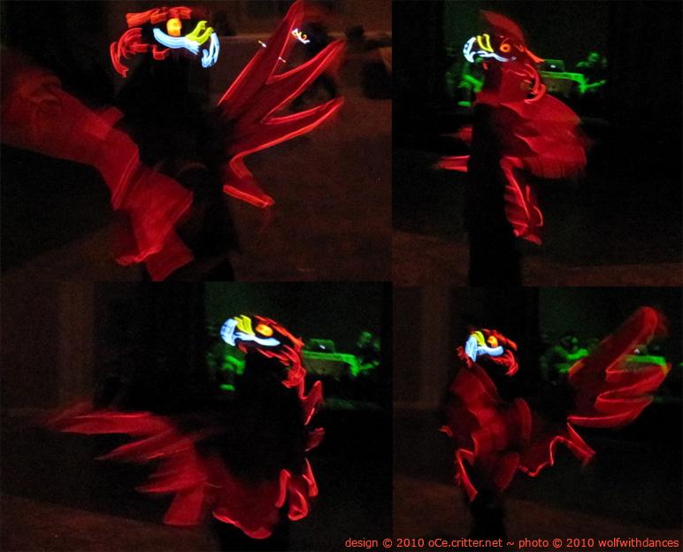 Phoenix costume after dark by kattything