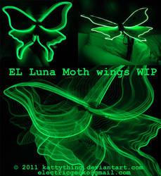 Luna Moth Wings WIP