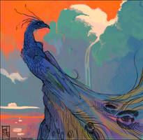 Peacock by kattything