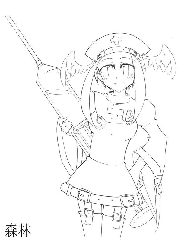 Line Drawing Nurse : Lineart hello nurse by sleepyforest on deviantart
