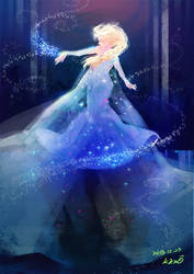 Frozen_elsa by KimKM