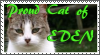 TLF- Stamp: Proud Eden Cat by MetalWolfGemstone