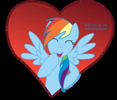 Rainbow Dash Valentine Card - Awesometines by DiegoTan