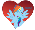 Rainbow Dash Valentine Card - Awesometines